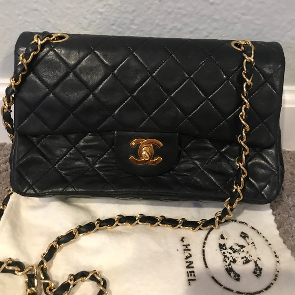 CHANEL Handbags - SOLD Chanel Classic Quilted CC Black Bag